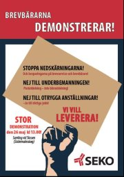 brevbrarna demonstrerar Stockholm 26 maj 1012